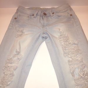 Machine Nouvelle Distressed Skinny Jeans